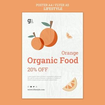 Modèle d'impression d'aliments biologiques