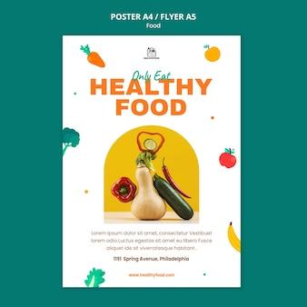 Modèle d'impression d'aliments sains