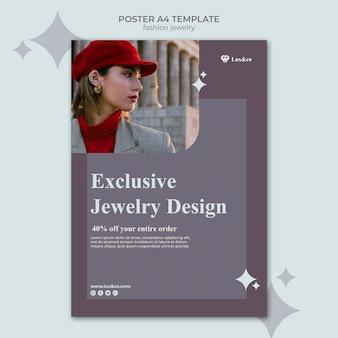 Modèle d'impression de bijoux de mode avec photo