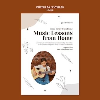 Modèle d'impression de cours de guitare