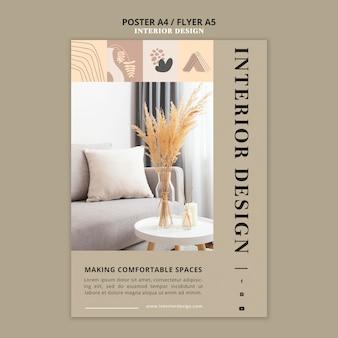 Modèle D'impression De Design D'intérieur Psd gratuit