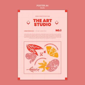 Le modèle d'impression du studio d'art
