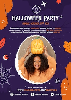 Modèle d'impression de fête d'halloween