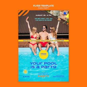 Modèle d'impression de fête à la piscine