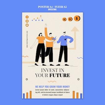 Modèle D'impression D'investissement Illustré Psd gratuit