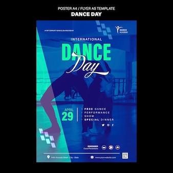 Modèle d'impression de jour de danse