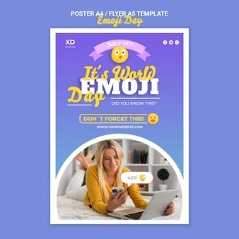 Modèle d'impression de jour emoji