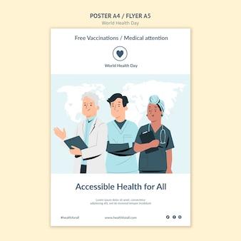 Modèle d'impression de la journée mondiale de la santé