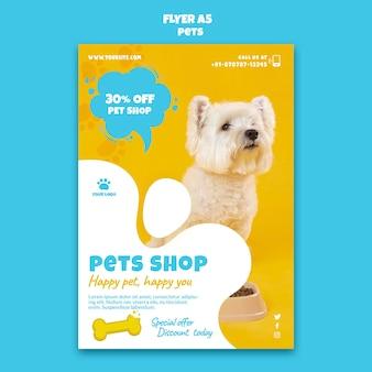 Modèle d'impression de magasin d'animaux de compagnie