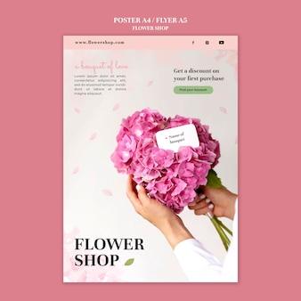 Modèle d'impression de magasin de fleurs