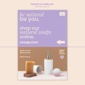 Modèle d'impression de magasin de savon fait main