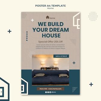Modèle d'impression de maison de rêve