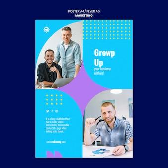 Modèle d'impression marketing avec photo