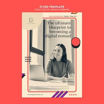 Modèle d'impression nomade numérique