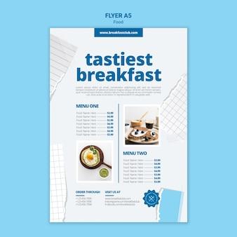 Modèle d'impression de petit-déjeuner le plus savoureux