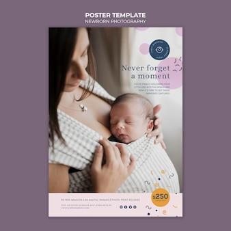 Modèle d'impression de photographie de nouveau-né