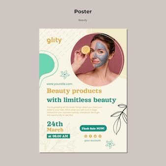 Modèle d'impression de produit de soin de la peau