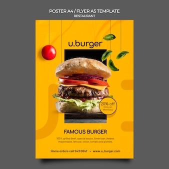 Modèle d'impression de restaurant burger