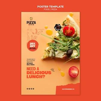 Modèle d'impression de restaurant de pizza