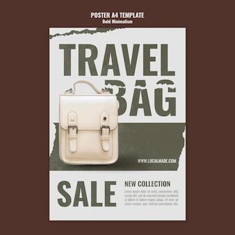 Modèle d'impression de sac de voyage
