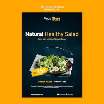Modèle d'impression de salade saine