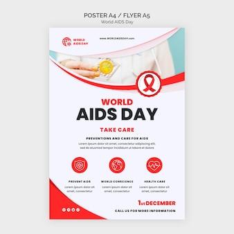 Modèle d'impression de sensibilisation à la journée du sida