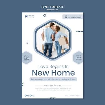 Modèle d'impression de service de déménagement de maison