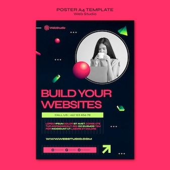 Modèle d'impression de studio web