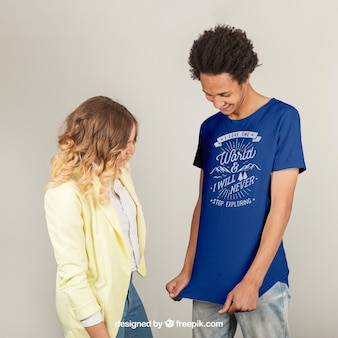 Modèle d'impression de t-shirt