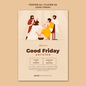 Modèle d'impression de vendredi saint