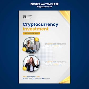 Modèle d'impression verticale de crypto-monnaie