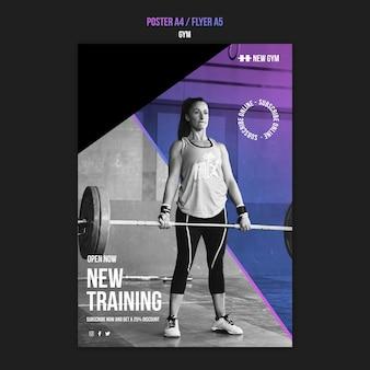 Modèle d'impression verticale de gym