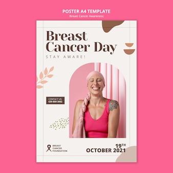 Modèle d'impression verticale de la journée du cancer du sein