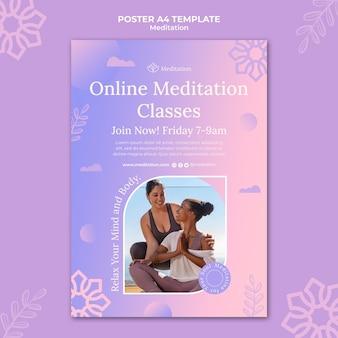 Modèle d'impression verticale de style de vie de méditation