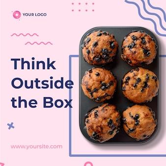 Modèle instagram de boulangerie