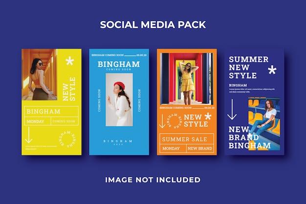 Modèle instagram histoire de médias sociaux carrés