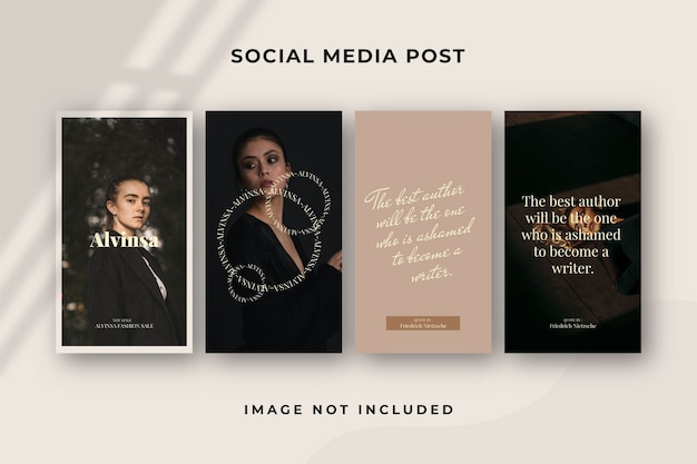 Modèle instagram d'histoire de médias sociaux carrés