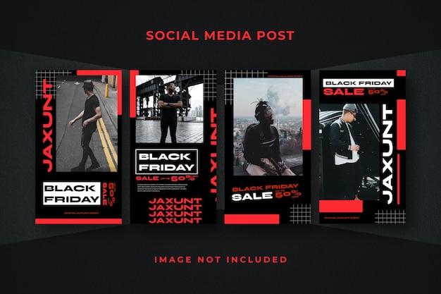 Modèle instagram d'histoire de médias sociaux