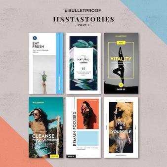 Modèle instagram histoires fashion