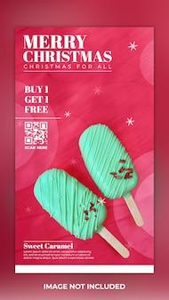 Modèle instagram d'histoires pour le menu alimentaire