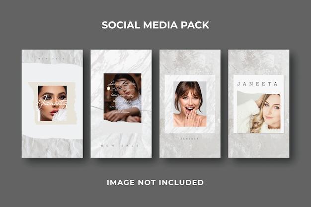 Modèle instagram de post story sur les médias sociaux carrés
