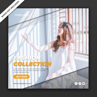 Modèle instagram de publication de médias sociaux collection de vente de mode