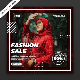 Modèle instagram de publication de médias sociaux fashion girl sale collection nouveau