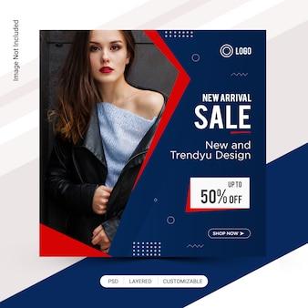 Modèle instagram de vente de mode