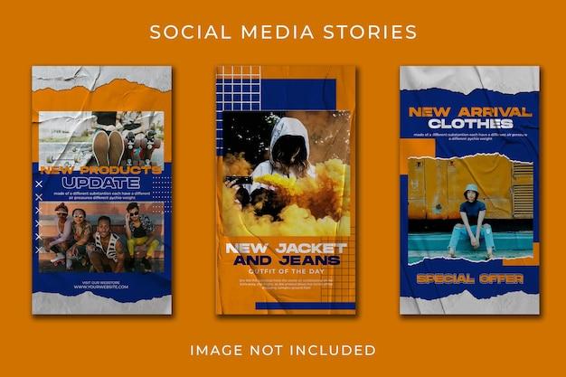 Modèle de jeu de mode urbaine histoire de médias sociaux