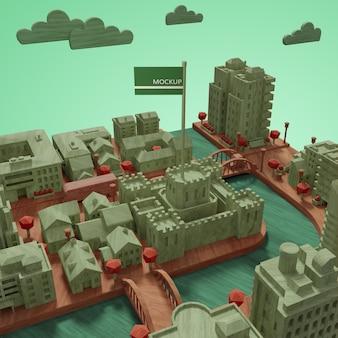 Modèle de la journée mondiale des villes maquettes