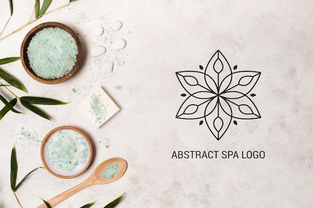 Modèle de logo abstrait spa