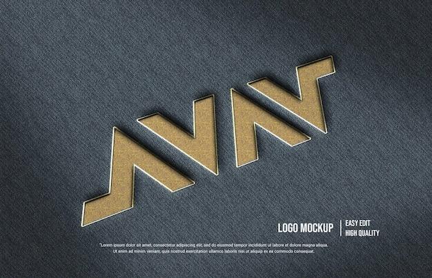Modèle de logo avav 3d mokcup