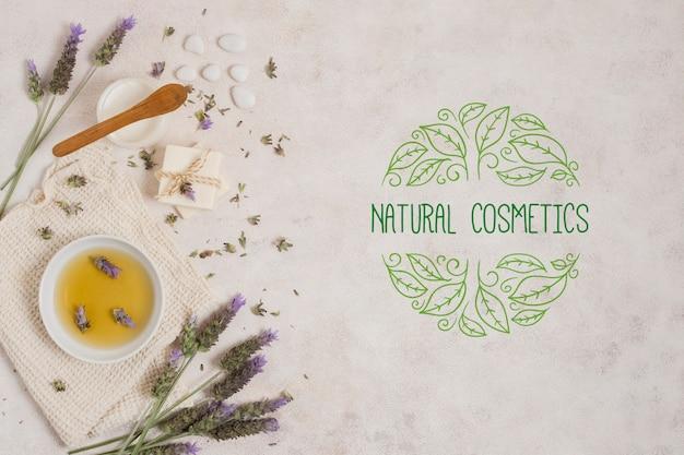 Modèle de logo de cosmétiques naturels