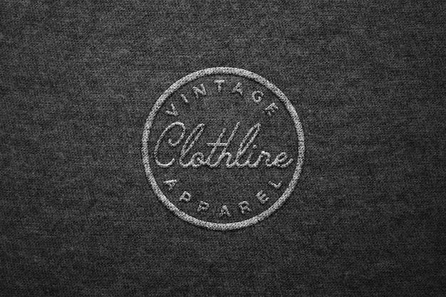 Modèle de logo de lettrage sur fond noir